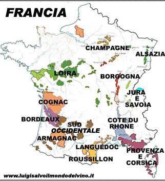 Cartina Vini Francia.La Francia